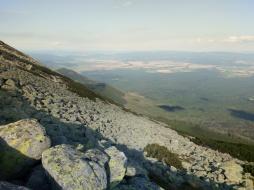 Utsikt från Höga Tatra mot Zipser Land.