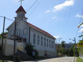 Gamla baptistkyrkan i Old Town, nu museum, clapboard construction..